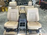 2011-2016 Ford F250 F350 Superduty Front And Rear Seats Set Tan Leather Lariat