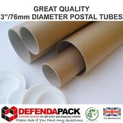 3 Wide Diameter Strong Poster Postal Tubes Posting Artwork From 8 To 65 Long