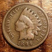 Nice 1894 Indian Head Penny Antique Cent Rare Usa Coin 980d