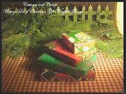 Lot 4 Antique Vintage Wrapping Paper Empty Christmas Scenes Gift Boxes 1950-60's