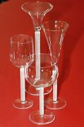 Rosenthal Reticelli Set Of Glasses And A Candlectick By Michael Boehm
