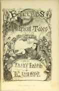 Archibald Maclaren / Fairy Family Series Of Ballads And Metrical Tales 1st Ed 1857