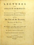 James Ferguson / Lectures On Select Subjects In Mechanics Hydrostatics 1st 1764