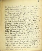 Manuscript Journal Recounting Voyage From Wilmington Nc To Cuba Via Nassau 1892
