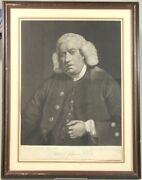Joshua Reynolds / Mezzotint Portrait Painted By Reynolds And Engraved By William