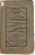 Letter From Noah Webster Esq Of New-haven Connecticut To Friend 1st Edition 1809