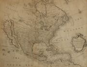 Map Of North America With The European Settlements And Whatever Else 1740