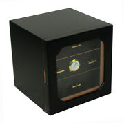 Quality 80+ Ct Count Cigar Humidor Humidifier Wooden Case Box Hygrometer X
