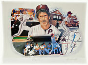 Mike Schmidt Autographed Limited Edition Lithograph By Anthony Douglas