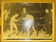 1905 Fighting Dick Hyland And Frankie Neil In Vintage 2nd Gen Photo 10.5x14