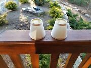 Cream Color Linen Fabric Lamp Shades For Sconce 4 Inch Set Of 2