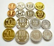 H710 Romania 2000 2 Different Types Proof Coins Very Rare Medal And Coin Rotation