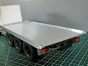 19 Aluminum Flat Bed Flatbed Sectiononly For Tamiya 1/14 Rc King Grand Hauler