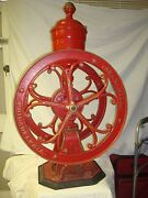 Large Antique 2 Wheel Star Mill Coffee Grinder