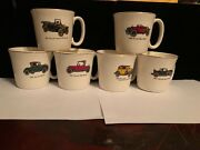 Vintage Collectible Set Of 6 Salem Coffee Mugs/cups 1912-14-21-25-31 And 32 Chevy
