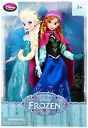 Disney Frozen 12 Inch Doll 2-pack Anna And Elsa Disney Store Excl Rare 2013 Nrfb