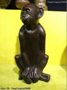 19 China Palace Red Copper Bronze Feng Shui Zodiac Sign Monkey Sculpture Statue