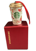 Starbucks 2013 Crystal Ornament Cup Annual Holiday Limited -no Card