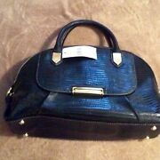 Nwt Nine West Leather Black Purse Short 2 Short Hangle And 1 Long Remove Rp 89