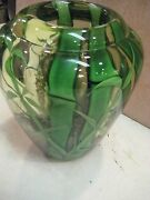 1981 Art Glass Jungle Bamboo Vase Signed By Bruce Sellers, 8