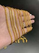 9999 24k Solid Gold Anchor Chain 22.5 Gram 20andrdquo 2.6mm