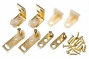 New Cafe Saloon Ranch Door Gravity Pivot Swing Hinge Brass Plated Pack Of 50