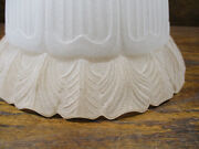1 Frosted Ribbed Glass Torchiere Floor Lamp Ceiling Light Shade 1 1/2 Fitter
