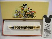 Disney Colibri Mickey Mouse Goldtone Overlay Style Pen New In Box Reduced 2