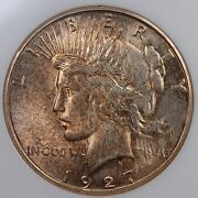 1927 S Peace Dollar Ngc Ms 62 Very Attractive Mottled Tone And Very Pq