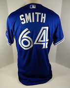 2018 Toronto Blue Jays Murphy Smith 64 Game Issued Blue Jersey 32 Patch