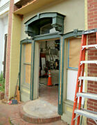 Victorian Storefront Salvage, Segmented Arched Window Unit, 97h X 40.5w