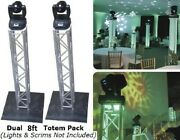 2 Global Truss 8.2ft Square Trussing Package   F34 Totem Pack New W/ Warranty