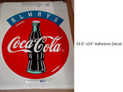 Coca-cola 5 Decals Rare 1990and039s Always Authentic Decals Of 24 X 36 5 Qty