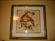 Norman Rockwell Limited Edition Lithograph Fall- From Ages Of Love Suite