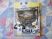 2010 Lsu Tigers Football Media Guide Yearbook Press Book Program College Ad