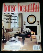 House Beautiful Magazine - November 1995 How To Lighten Up Your Antiques