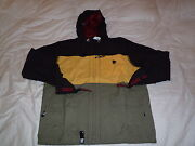 L-r-g Lifted Research Group Lrg Jericho Zip Up Hooded Jacket Black Sz Xl