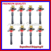 8pc High Energy Ignition Coils Ebm321r For 1996 1997 1998 2001 Bmw 740il 4.4l V8