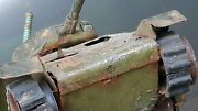 Vintage Tank M Rs 51 Tin Military Toy Wind Up Germany Ddr Gdr Metal For Parts