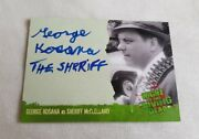 Unstoppable Cards The Night Of The Living Dead George Kosana Autograph Card A3