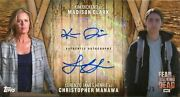 Topps Fear The Walking Dead Dual [3] Autograph Card Kim Dickens And L Henrie