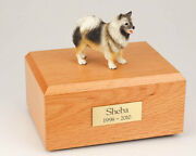 Keeshond Pet Funeral Cremation Urn Available In 3 Different Colors And 4 Sizes