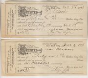 4 1906 Receipts - Fry And Lyle Real Estate And Insurance - New York City