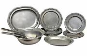 Mix Lot Of 11 Wilton Armetale French Country, Queen Anne And Weave Textured Pewter