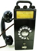 Original Gray Pay Station With Dial / Telephone Model 23d