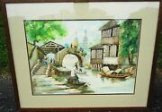 Museum Worthy Chinese Antique Framed Water Color Fully Red Sealed And Signed