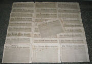 Lot Of 28 Issues - The United States Gazette - 1828 Philadelphia - Newspapers