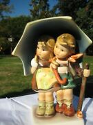 Vintage Hummel Stormy Weather - Signed By Artist