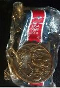 Old Rare Disney Usa Olympic Logo Lanyard With Mickey Mouse Gold Medal Medallion
