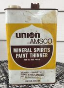 Vntg Union 76 Amsco Mineral Spirits Paint Thinner Can Union Oil Co. Empty Gallon